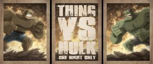 Thing Vs Hulk by OtisFrampton