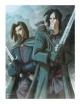 Ranger and Gondorian by OtisFrampton