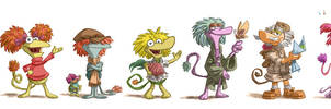 Fraggle Line-Up by OtisFrampton