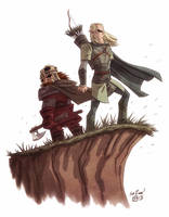 Legolas and Gimli by OtisFrampton