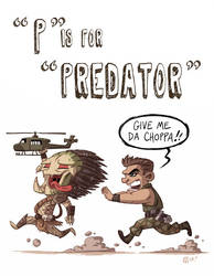 P Is For Predator by OtisFrampton