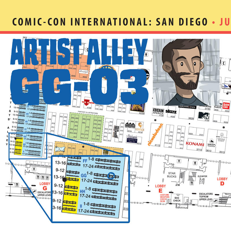 SDCC-Map2015 by OtisFrampton