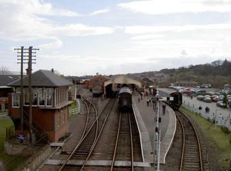 Idle Rail Yard by rh281285