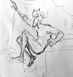 naked climb by FroginatorArt