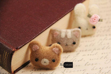 needle felt animals (forsale) by FluffyParcel