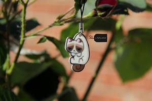 Grumpy cat charm (for sale) by FluffyParcel