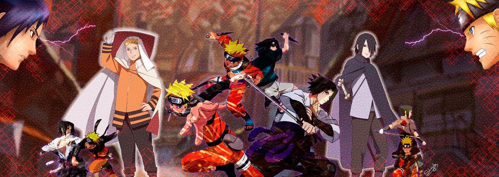 Dual Screen Wallpaper Naruto vs Sasuke by Shojito on ...