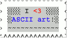 Stamp ASCII Love color by mitoXD