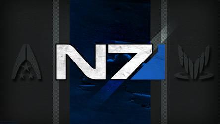 N7 Wallpaper BLUE MOD (ME3 Anniv) by lincer556
