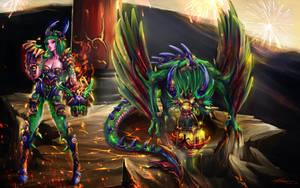Shyvana The Legendary Dragon by ARTCADEV