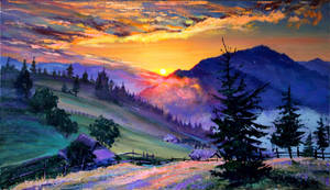 Evening by Gudzart
