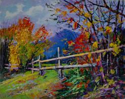 Gloomy autumn by Gudzart
