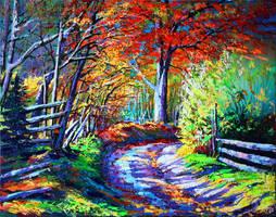 Forest road by Gudzart