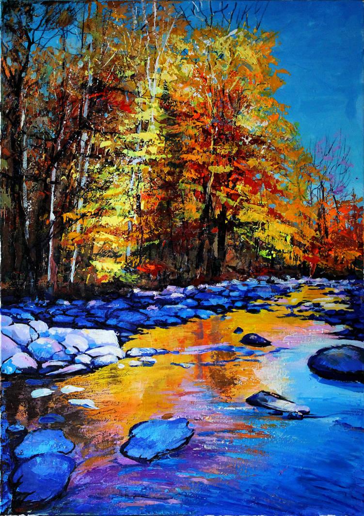 Sunny autumn by Gudzart