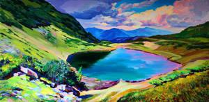 Lake Vorozheska by Gudzart
