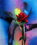 Gun and rose by Gudzart