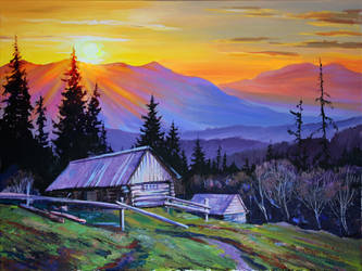 Quiet evening by Gudzart