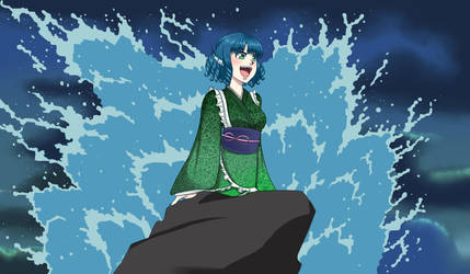 'Part of your World'-Wakasagihime (TH14) by AmeOfTheSEA