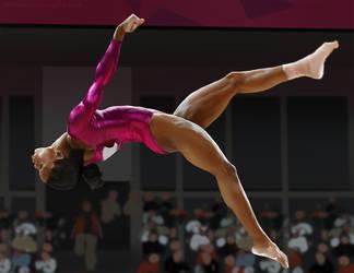 Gymnast lady photo studay 2 by johnderekmurphy