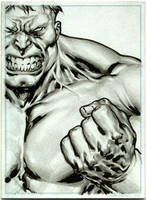 Hulk Sketch Card by IbraimRoberson