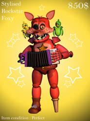 Stylised Rockstar Foxy by Popi01234