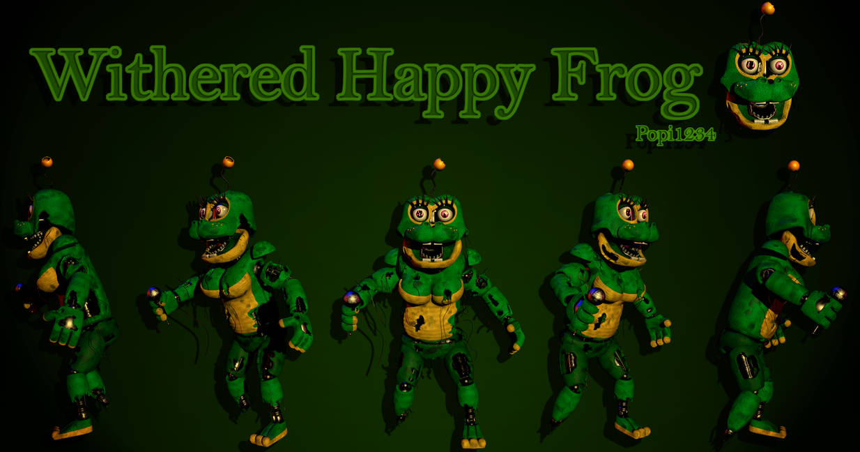 Withered Happy Frog by Popi01234