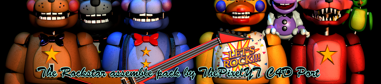 The Rockstar Assemble Pack By ThePixelYT c4d Port by Popi01234