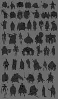 Knight sketch by DeadSlug