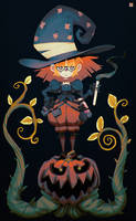 Pumpkin Witch by DeadSlug