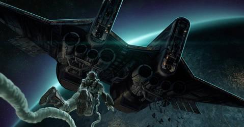 SF ship by NicolasSiner