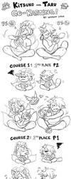 Kitsuko and Taru Go Karting by Sofa-Cushion