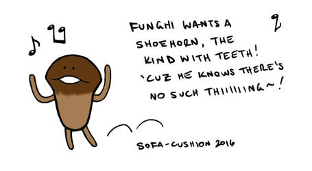 Funghi's Shoehorn by Sofa-Cushion