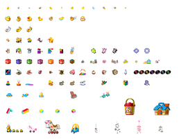 AB Icon Sets - Baby Toys by Piffle-Stix