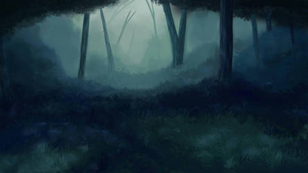 forest background by ashtrall