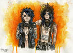 Andy Biersack and Ashley Purdy by Kagoe