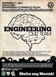 Engineering Quiz Team Poster by aryan26