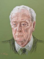 Michael Caine's portrait by Andromaque78
