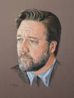 Russell Crowe full portrait 'Heforshe' by Andromaque78