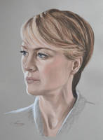 Robin Wright portrait by Andromaque78