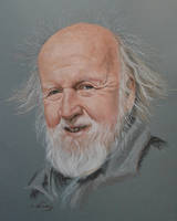 Hubert Reeves portrait by Andromaque78