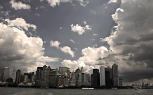 New York Skyline Wallpaper by lowjacker