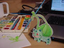 Paper Bulbasaur by pettyartist