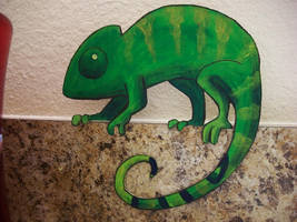 Paper Chameleon by pettyartist
