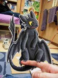 Paper Toothless by pettyartist