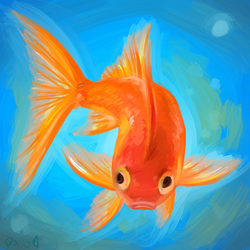 Goldfish- Digipaint by pettyartist