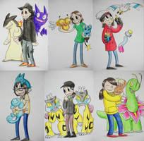 Pokemon Christmas Cards by pettyartist