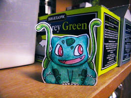 Paper Bulbasaur 2 by pettyartist