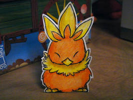 Paper Torchic by pettyartist
