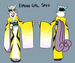 Kimono Girl Sayo- Chatacter Sheet by pettyartist
