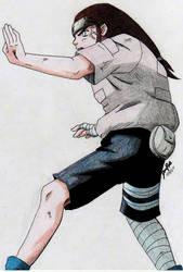 Neji Gentle Fist Fighter by Kyokyogirl